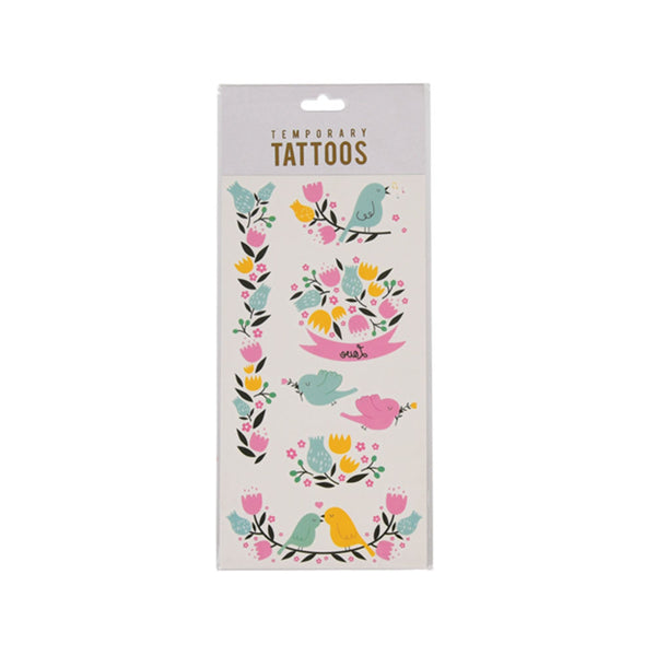 Love Birds Temporary Tattoos  Temporary Tattoos Hello Party - All you need to make your party perfect!  - Hello Party