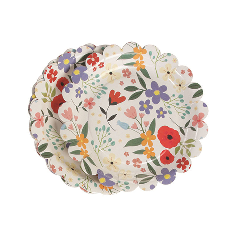 Summer Meadow Tea Party Plates