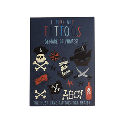 Beware of the Pirates Temporary Tattoos  Temporary Tattoos Hello Party - All you need to make your party perfect!  - Hello Party