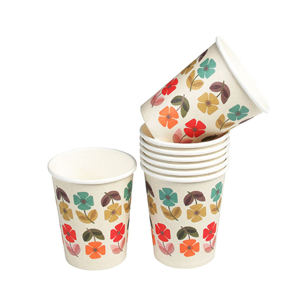Mid Century Poppy Tea Party Paper Cups  Party Cups Hello Party - All you need to make your party perfect!  - Hello Party