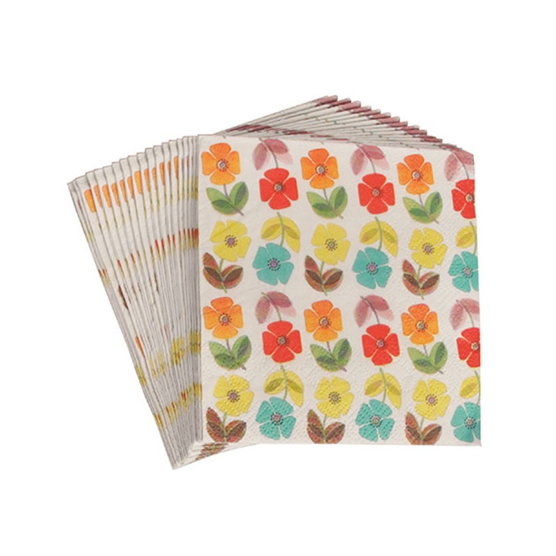 Mid Century Poppy Paper Napkins  Napkins Rex International - Hello Party