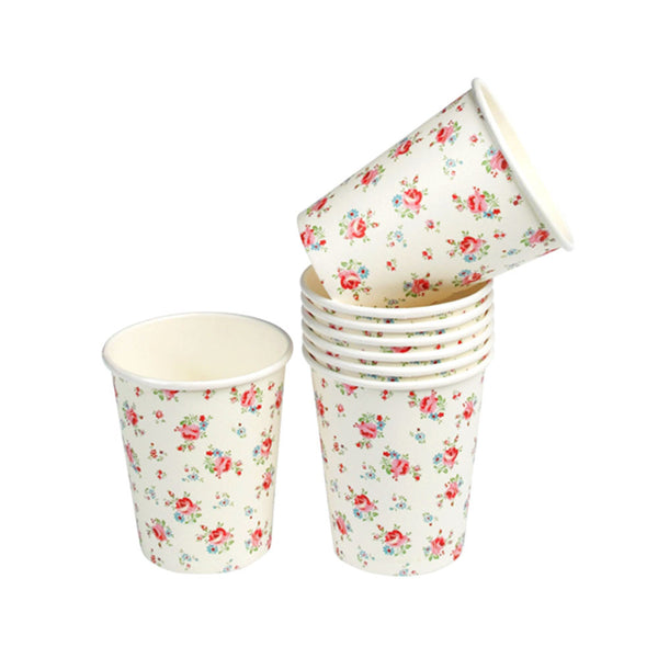 La Petite Rose Tea Party Cups  Party Cups Rex International - Hello Party