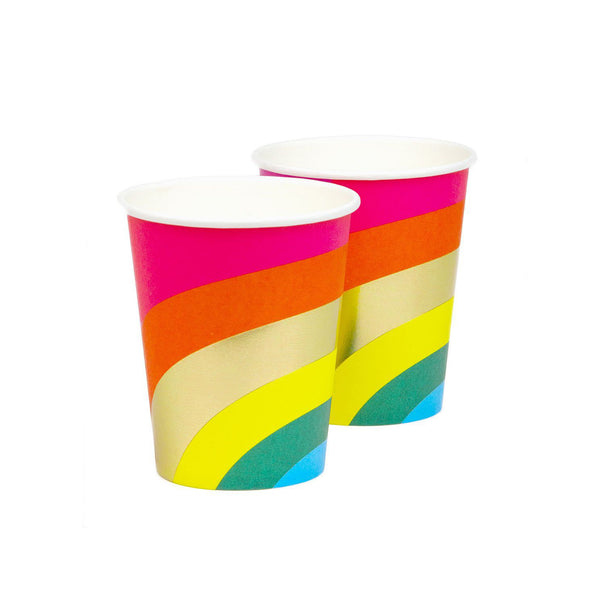 Birthday Brights Rainbow Birthday Party Paper Cups