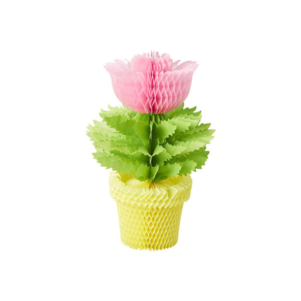 Pink Honeycomb Flowerpot Decoration  Honeycomb Decorations Rice DK - Hello Party