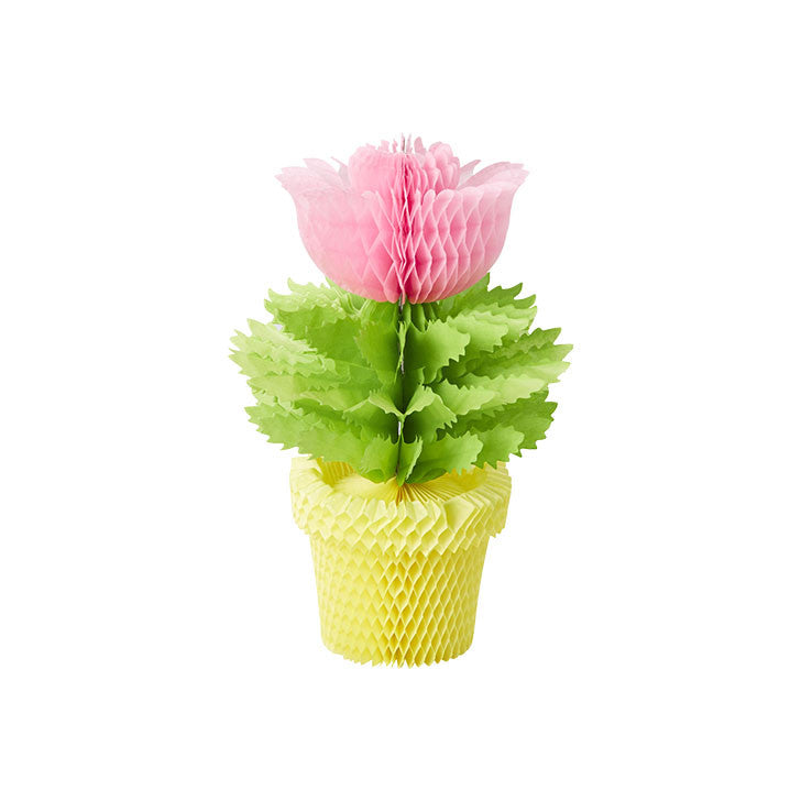 Pink Honeycomb Flowerpot Decoration