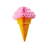 Pink Honeycomb Ice Cream Cone