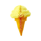 Yellow Honeycomb Ice Cream Cone