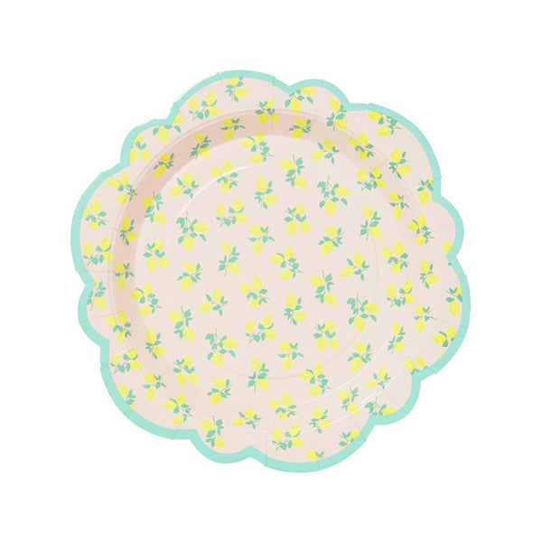 Lovely Lemon Flower Shaped Paper Plates  Party Plates rice DK - Hello Party