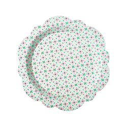 Floral Tile Patterned Paper Plates