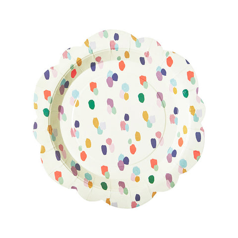 Bright Brush Pattern Flower Shaped Paper Plates Party Plates rice DK - Hello Party  sc 1 st  Hello Party & Pretty \u0026 Stylish Party Paper Plates | Hello Party
