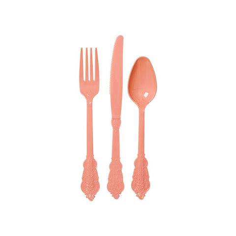 Classy Disposable Cutlery - Pastel Pink