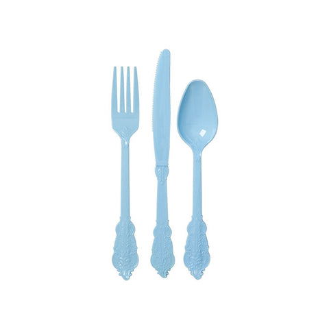 Classy Disposable Cutlery - Pastel Blue  Party Cutlery Rice DK - Hello Party
