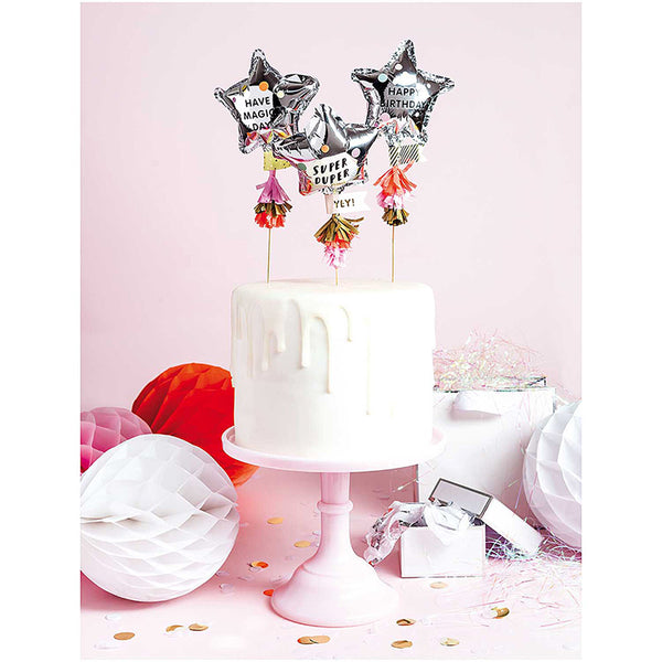 Mini Star Balloon Cake Topper Kit