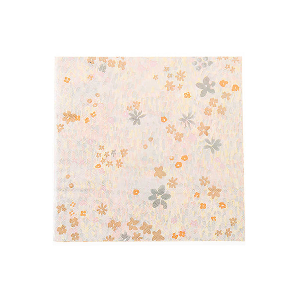 Pinks and greys floral watercolour paper party Napkins