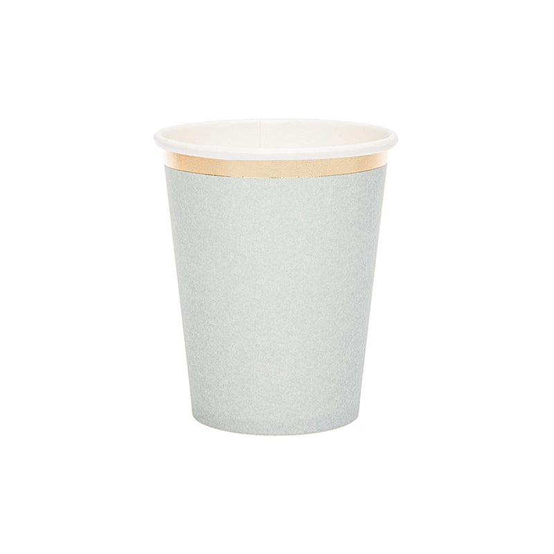Blue-grey & Gold Paper Party Cups