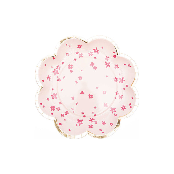Pink Blossom Paper Party Plates