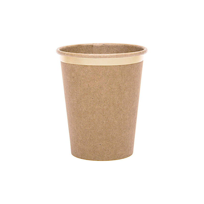 Kraft & Gold Party Paper Cups