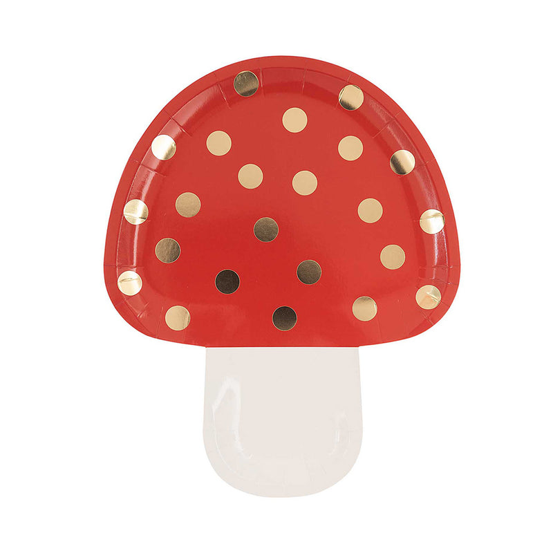 Toadstool Paper Plates