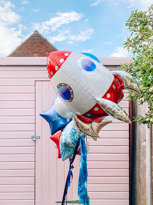 UltraShape Rocket Ship Foil Balloon