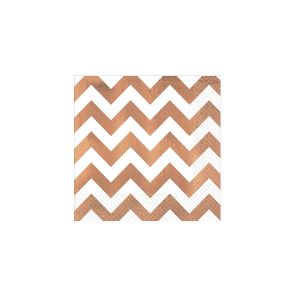 Rose Gold Chevron Napkins