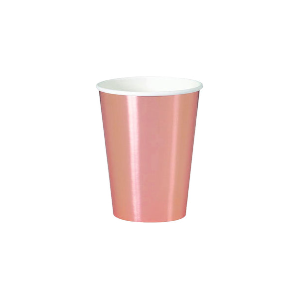 Rose Gold Large Paper Cups  Party Cups Unique - Hello Party
