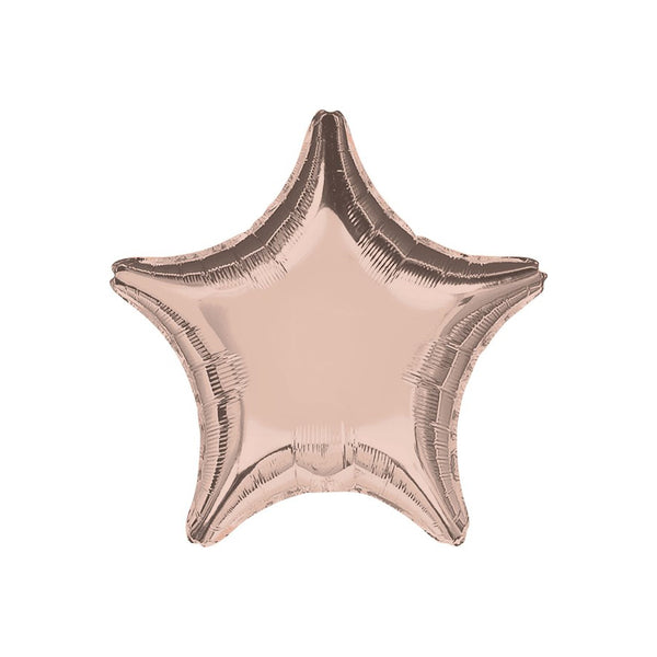 "Rose Gold Star Shaped Foil Balloon (18"")"