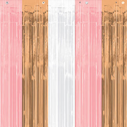 Rose Gold and Blush Door Curtain  Party Curtain Hello Party - All you need to make your party perfect! - Hello Party
