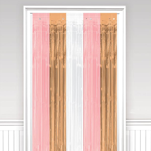 Rose Gold and Blush Door Curtain
