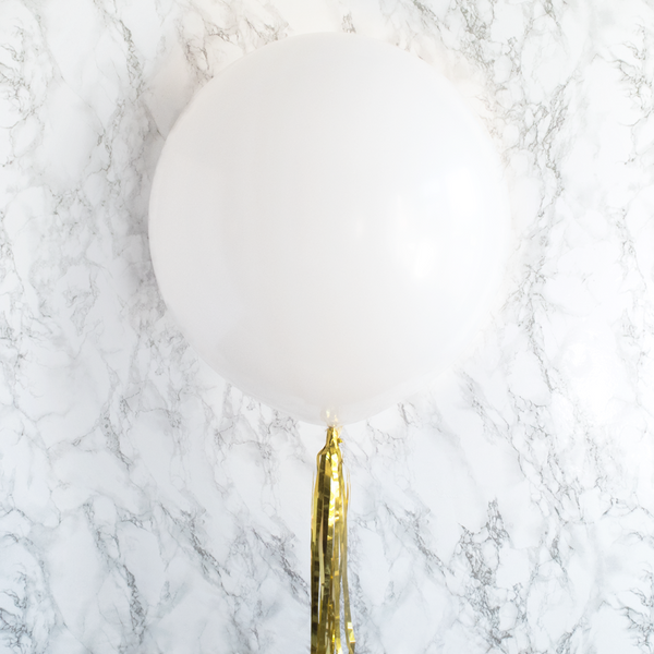 "White Big Round Balloon 19""  Big Round Latex Balloons Hello Party Essentials - Hello Party"