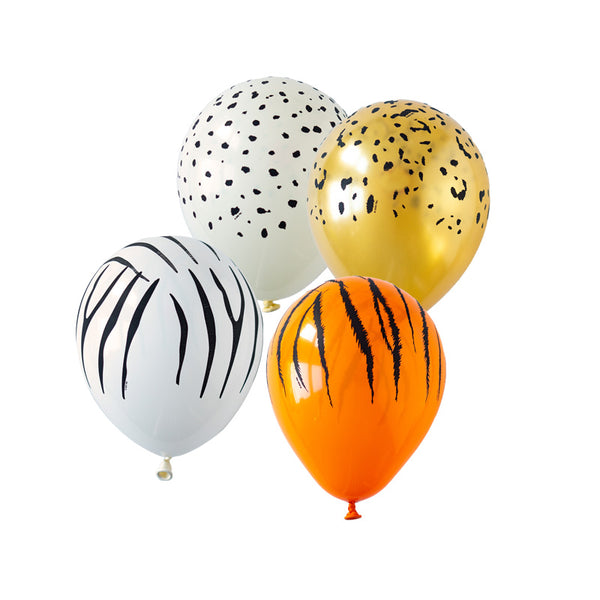 Animal Print Safari Balloon Mix (pack of 10) Party Balloons Jungle Party