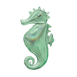 Mermaid Wishes Seahorse Foil Balloon  Balloons Hello Party - Hello Party