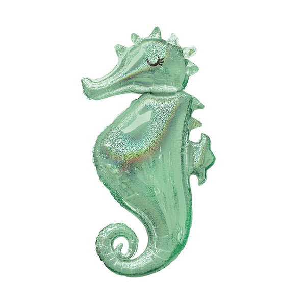 Mermaid Wishes Seahorse Foil Balloon
