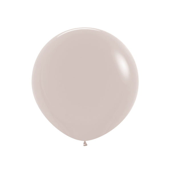 "Big & Round White Sand 24"" Balloon"