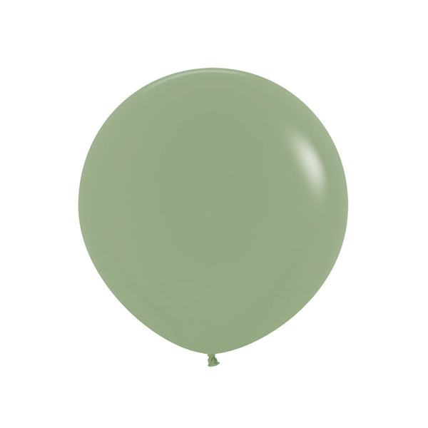 "Big & Round Eucalyptus Green 24"" Balloon"
