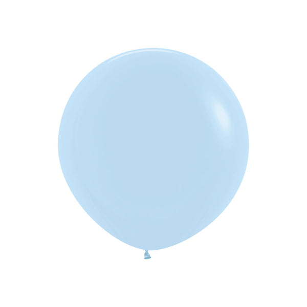 "Big & Round Chalky Pastel Blue 24"" Balloon  Big Round Latex Balloons Hello Party - Hello Party"