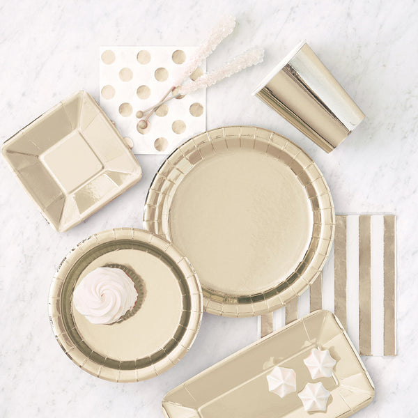 Shiny Gold Party Tableware Collection