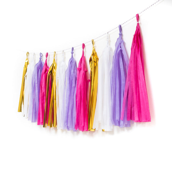 Golden Unicorn Tassel Garland