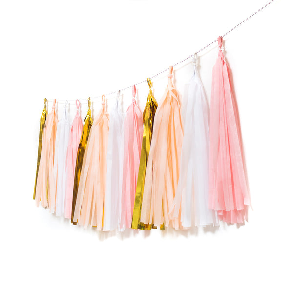 Blush Tassel Garland  Tassel Garlands Hello Party Essentials - Hello Party