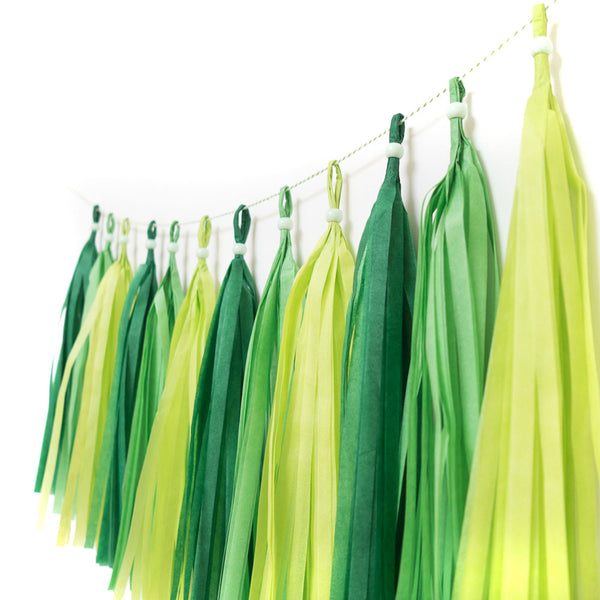 Gorgeous Greens Tassel Garland