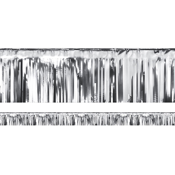 Decorative Fringe Silver Metallic Party Banner