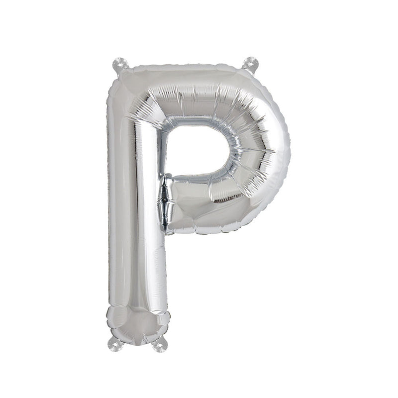 "Silver Letter Foil Balloons (16"")  Balloons Hello Party - All you need to make your party perfect! - Hello Party"