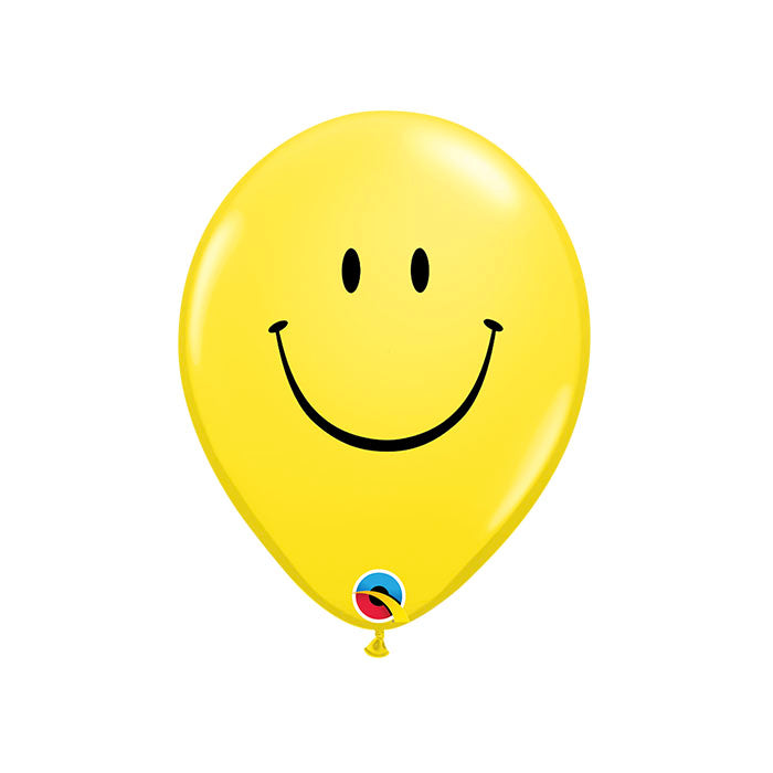 Smiley Face balloons (pack of 3)  Printed Latex Balloons Hello Party - Hello Party