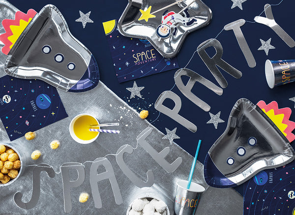 Space Rocket Party Plates  Party Plates Party Deco - Hello Party