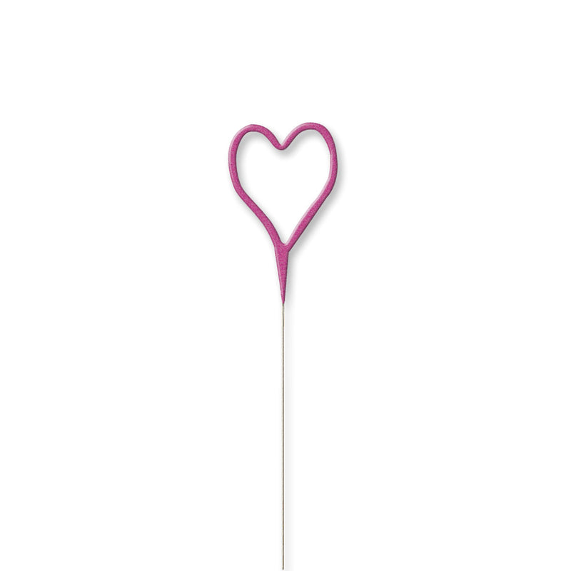 Heart Shaped Shaped Sparkler - Pink