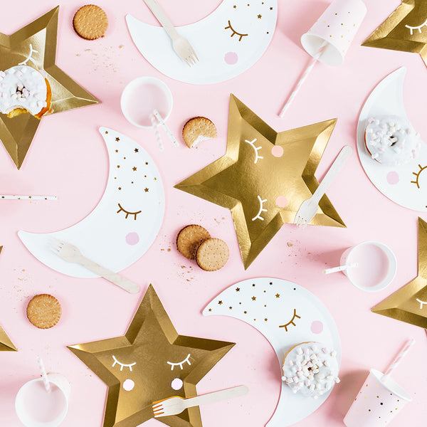 Little Star Gold Plates  Party Plates Party Deco - Hello Party