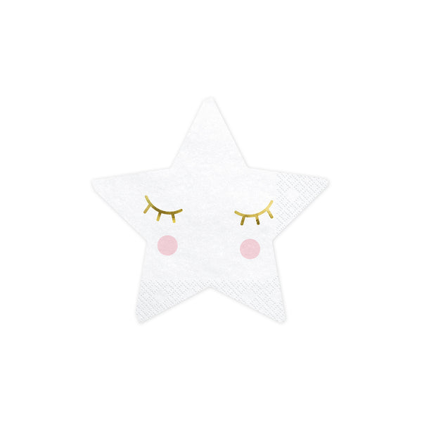 Little Star Shaped Paper Napkins  Napkins Party Deco - Hello Party