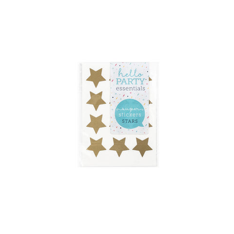 36 Small Star Shaped Stickers Gold