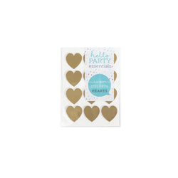 36 Small Heart Shaped Stickers 18mm  Stickers Hello Party Essentials - Hello Party