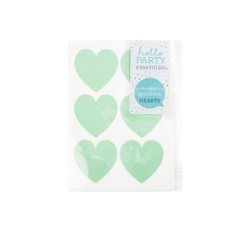 18 Large Heart Shaped Stickers 37mm  Stickers Hello Party Essentials - Hello Party