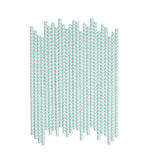 Light Blue Chevron Paper Straws